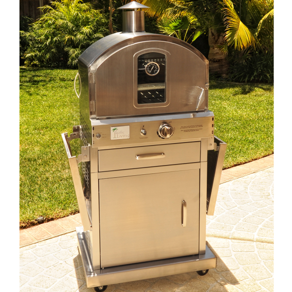 Captivating Pacific Living PL8430SSBG070 Outdoor Pizza Oven 5